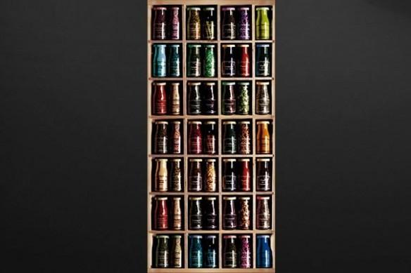sticker prorte decoration épices en bouteilles