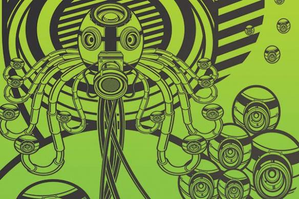 Papier peint original Webcam vert