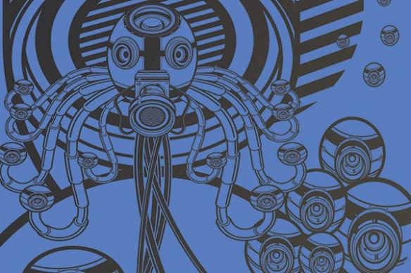 Décoration bureau moderne webcam bleu