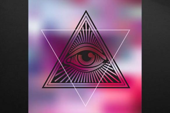 déco mur design oeil rose