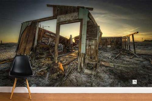 tapisserie chambre photo ruines