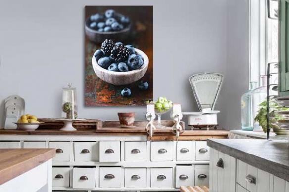 Décoration cuisine toile imprimée Fruits des bois