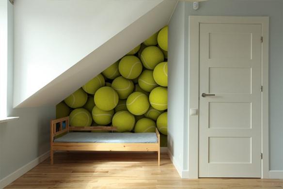 poster mural original balles tennis