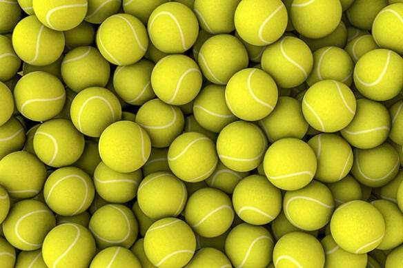 poster mural design photo balles tennis