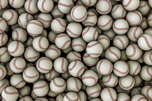 poster design balle baseball