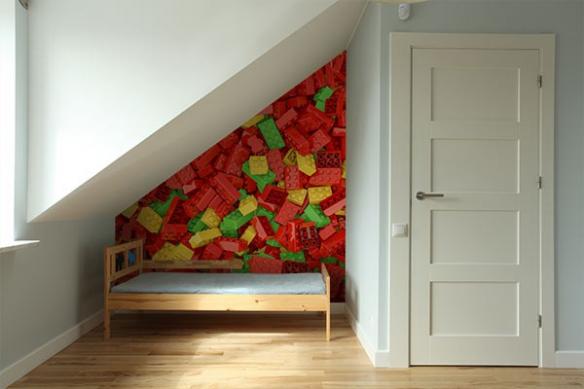 poster mural géant lego déco chambre enfant