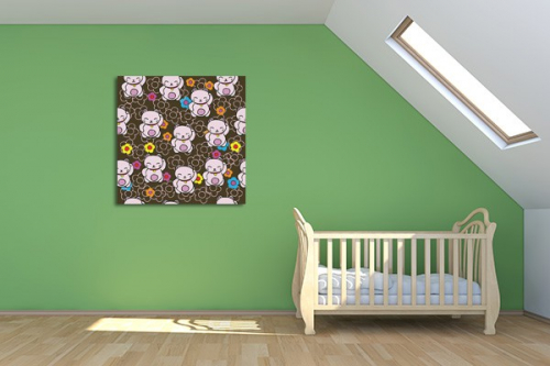 Tableau déco chambre enfant Maneki Neko