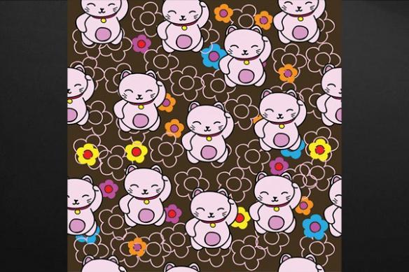 decoration chambre enfant chat porte bonheur chinois