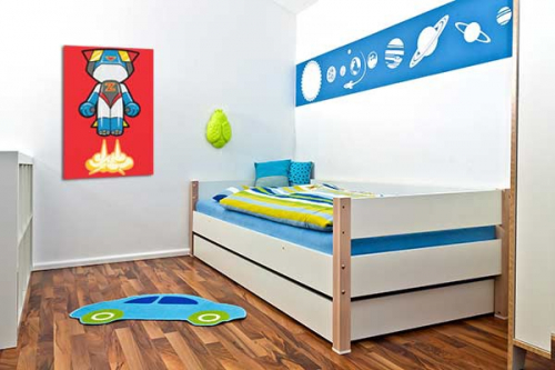 Tableau d co chambre gar on robot astro izoa for Decoration chambre robot
