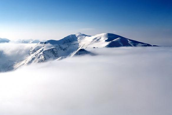 deco mur paysage montagnes neige
