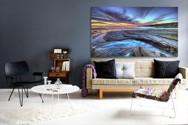 tableau d co paysage izoa. Black Bedroom Furniture Sets. Home Design Ideas