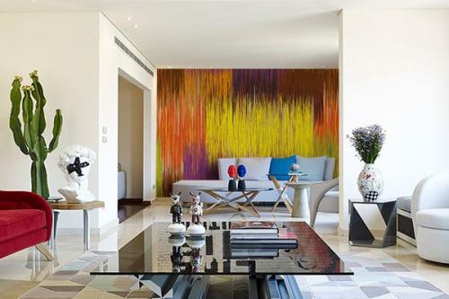 deco moderne mur salon poster abstrait