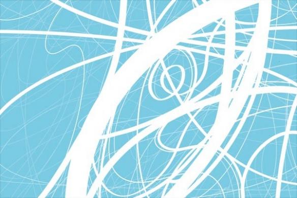Tableau abstrait ligne bleu ciel