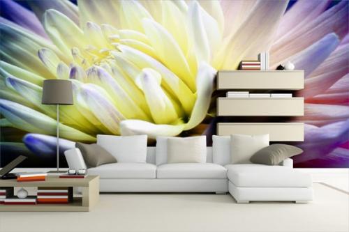 decoration salon poster mur fleur macro