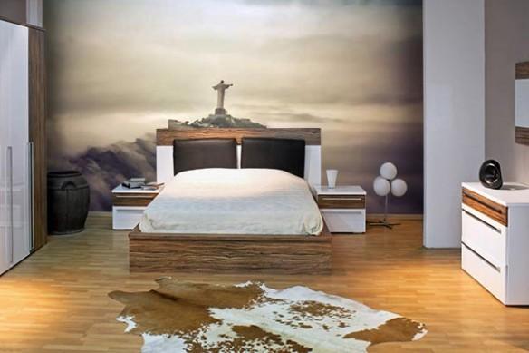 papier peint chambre paysage rio