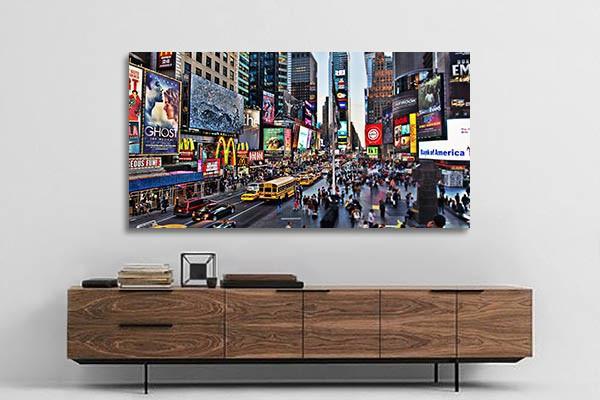 tableau grand format ville izoa. Black Bedroom Furniture Sets. Home Design Ideas