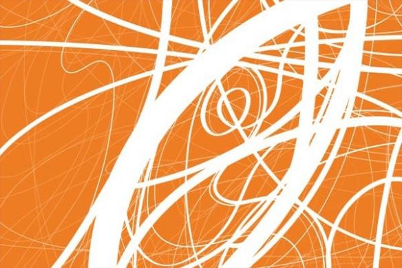 Tableau design abstrait Ficelle courbe