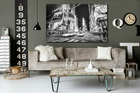 Tableau photo noir et blanc ville new york