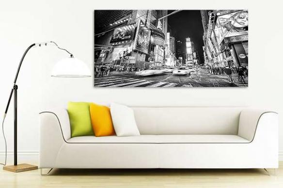 décoration mur noir et blanc new york