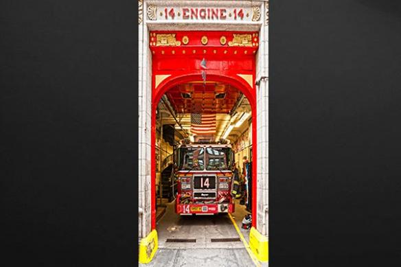 sticker déco originale Pompier de New York