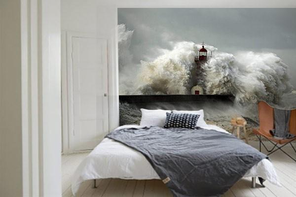 Papier peint chambre phare submerg izoa for Papier peint original chambre