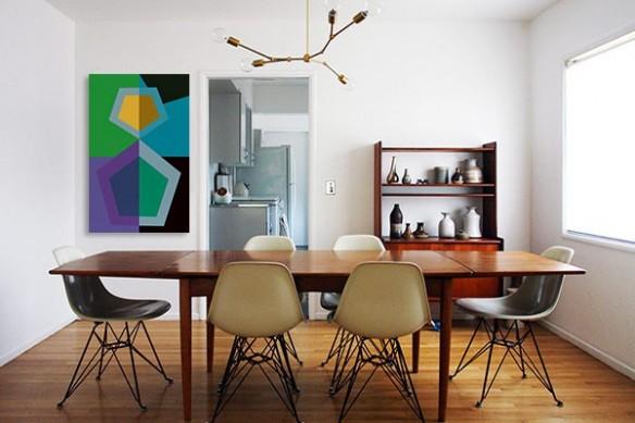 tableau design Clubic vert