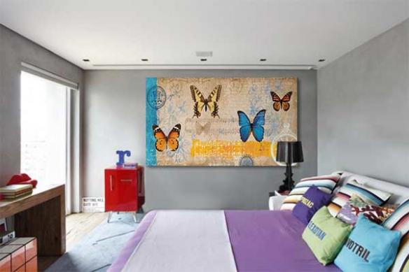 partition papillon deco mur romantique
