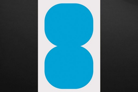 tableau abstrait design bleu