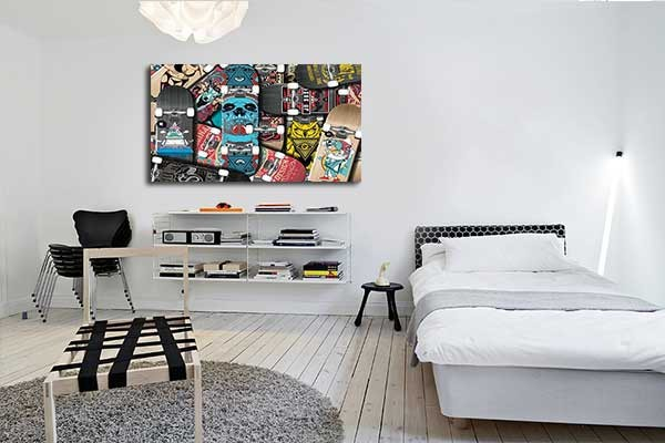 tableau contemporain skates izoa. Black Bedroom Furniture Sets. Home Design Ideas