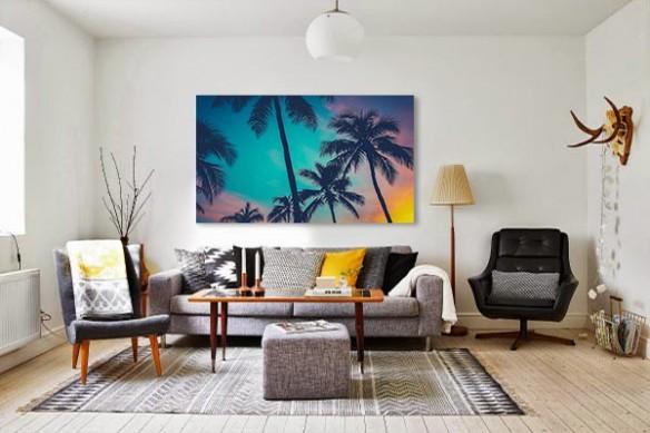 Tableau déco Palmiers tropicaux