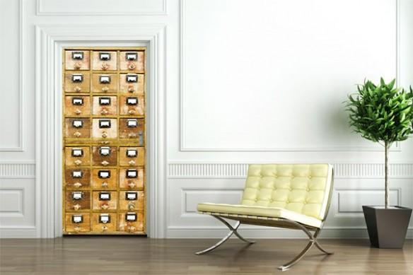 déco pour porte design armoire