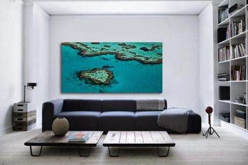 Tableau paysage Coeur Corail