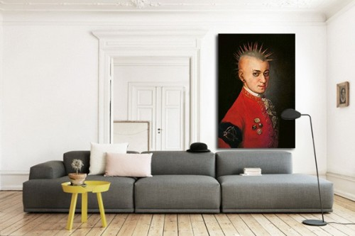 tableau moderne mozart