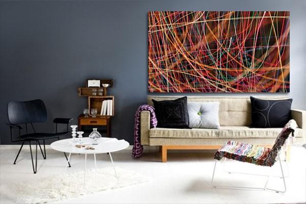tableau design d co lignes n on izoa. Black Bedroom Furniture Sets. Home Design Ideas
