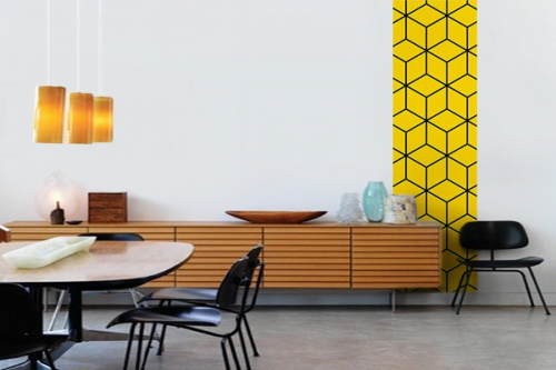 Papier peint Cubes design