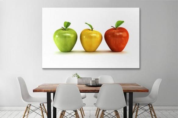 Tableau salle manger 3 pommes