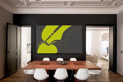 tableau design abstrait strange shape