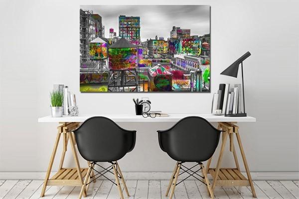 Tableau new york tag d co murale urbaine et moderne for Deco murale new york