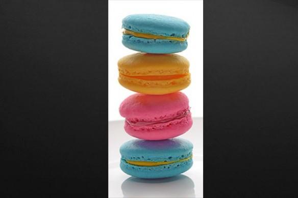Déco porte Cuisine Macarons Tricolores