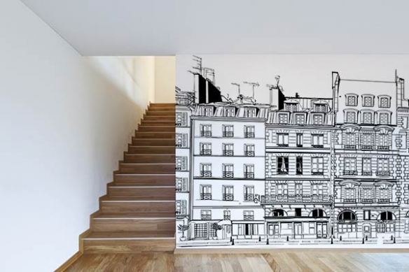 Poster mural Façade Parisienne