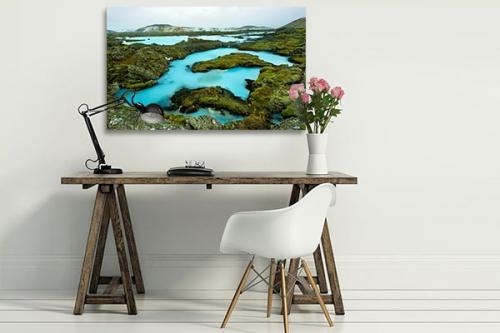Tableau moderne Lac Bleu