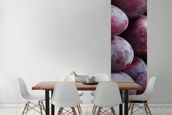 Papier peint salle manger prune izoa - Salle a manger papier peint ...