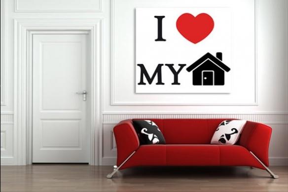 Toile I love my Home
