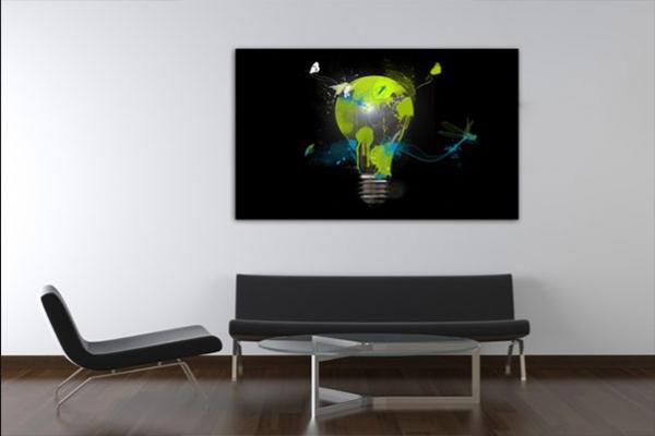 Tableau design ampoule color e by marion lechat izoa - Grand tableau design ...