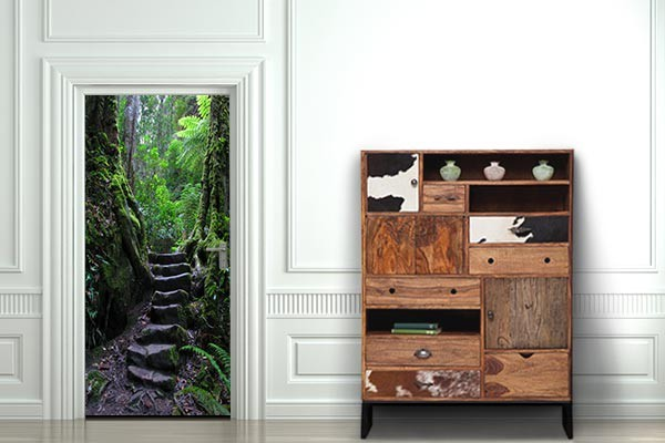 trompe oeil porte aventurier. Black Bedroom Furniture Sets. Home Design Ideas
