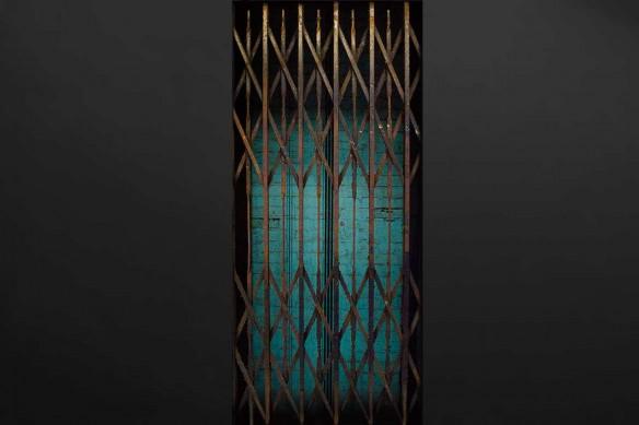 grille cage Ascenseur autocollant