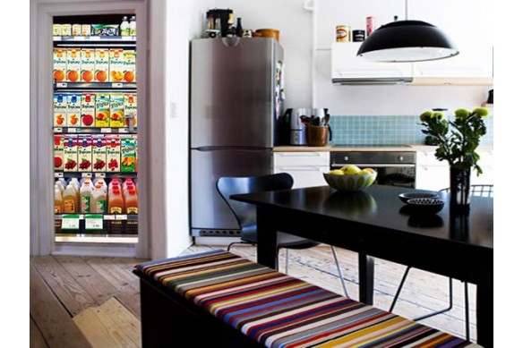 Sticker Porte Design Supermarché