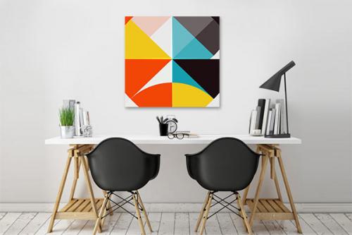 tableau contemporain assemblage