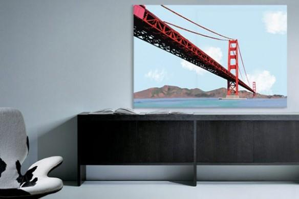 Tableau moderne Golden Gate izoa