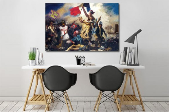 tableau original Liberté guidant le peuple